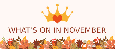 What is on in November - banner from Freepix
